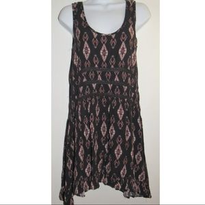 MOSSIMO Casual Tribal Boho Tunic Tank Top Lace